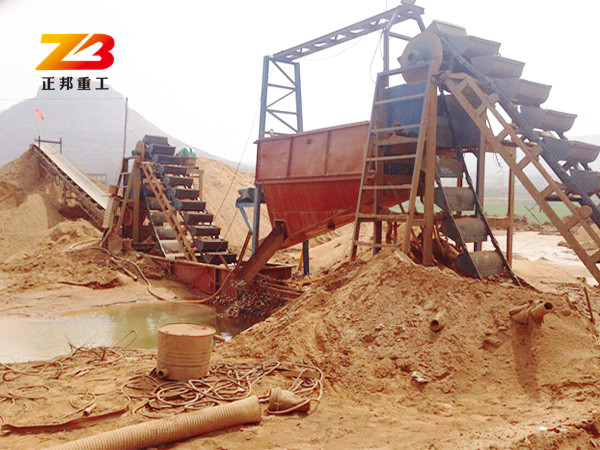 挖斗洗海沙机械