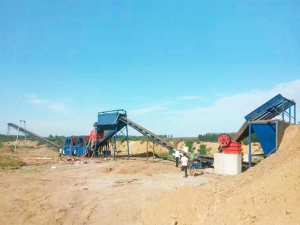 山东日照风化砂制砂生产线